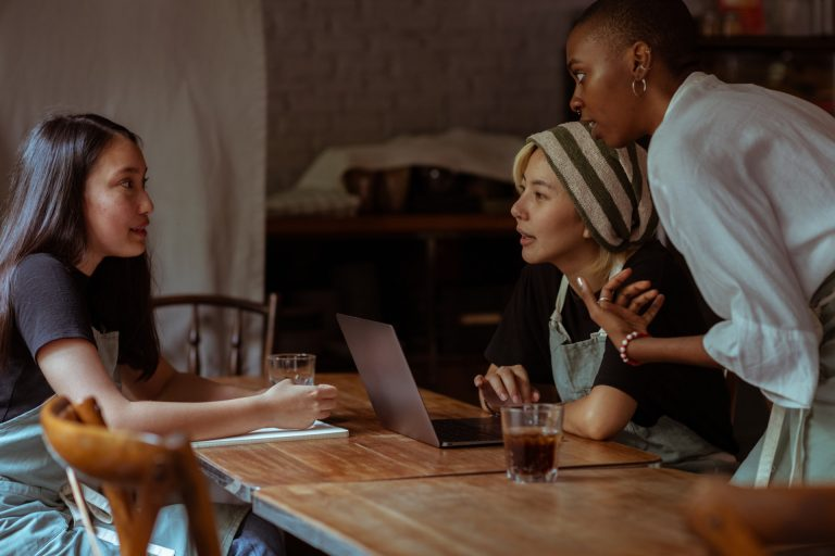 group of woman discussing an IT strategy
